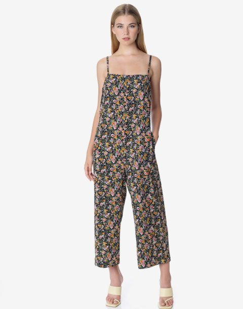 Floral jumpsuit with back detail