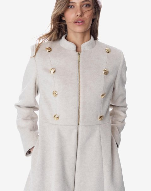 Coat with mandarin collar