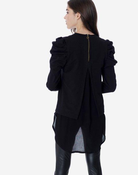 Ασύμμετρη μπλούζα φούτερ σε συνδυασμό