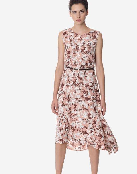 Εμπριμέ μίντι φόρεμα