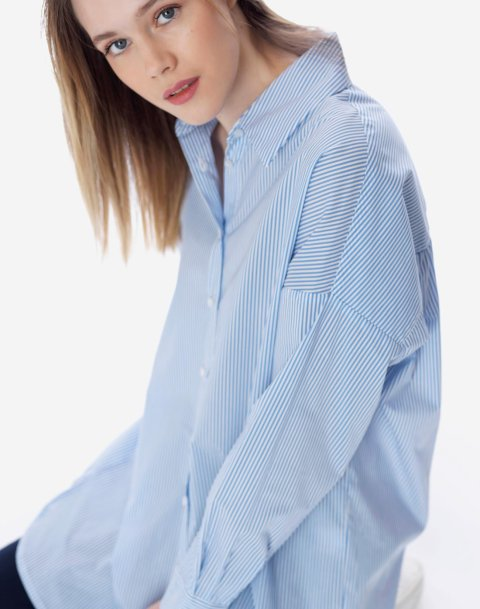 Striped oversised shirt