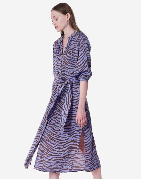 Animal print σεμιζιέ φόρεμα