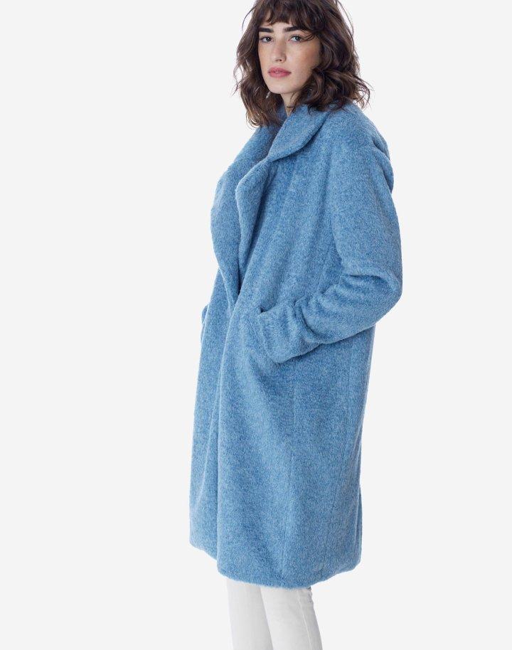 Παλτο oversized με συνθετική γούνα