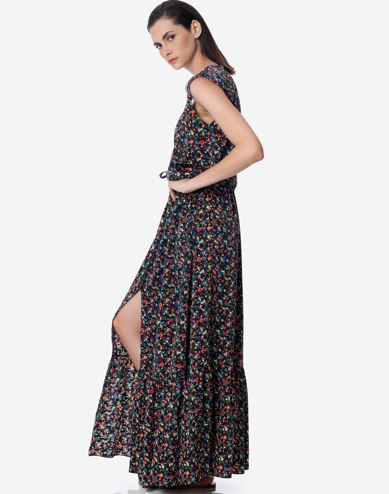 Φλοράλ φούστα με κουμπιά
