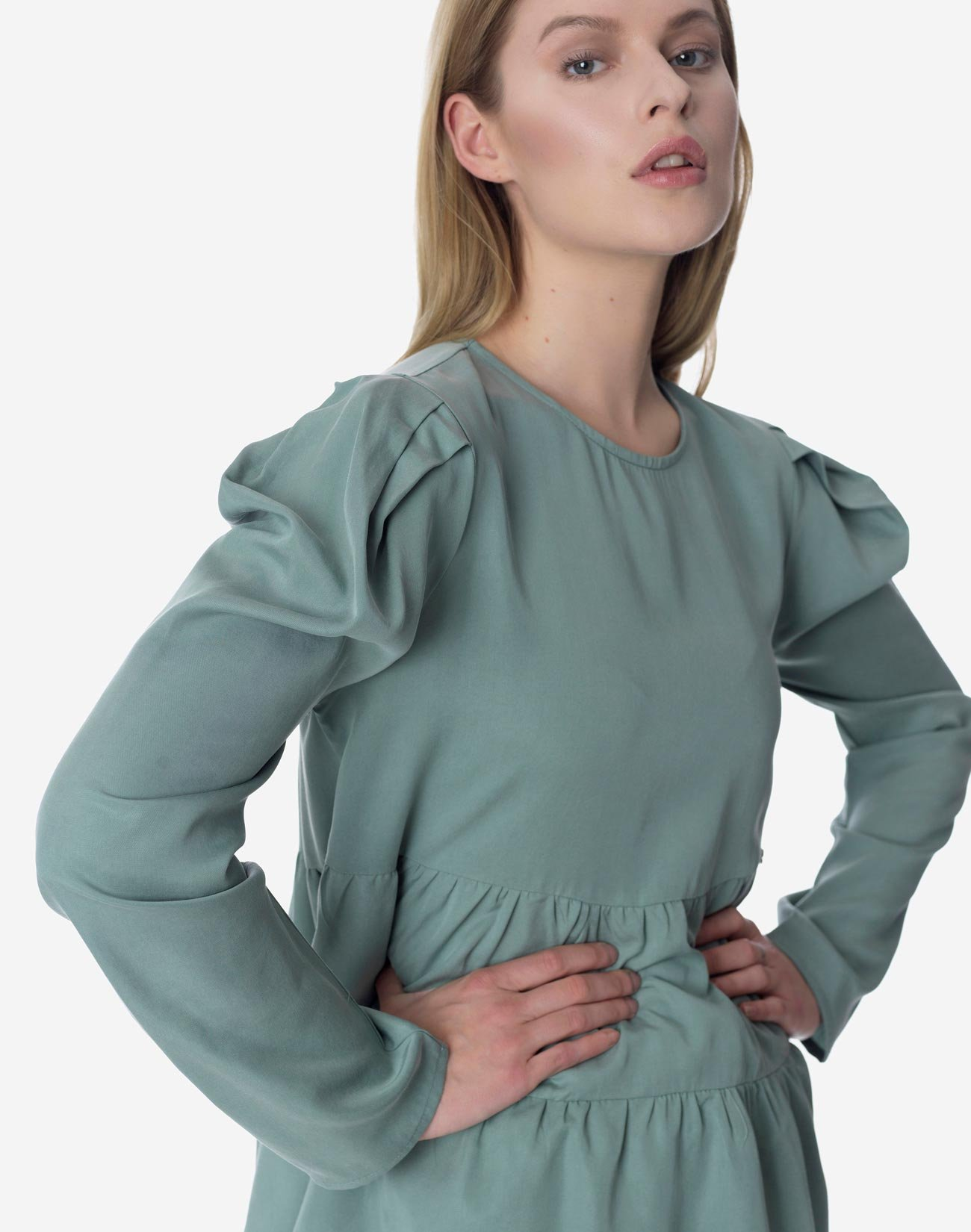 Top with double ruffle