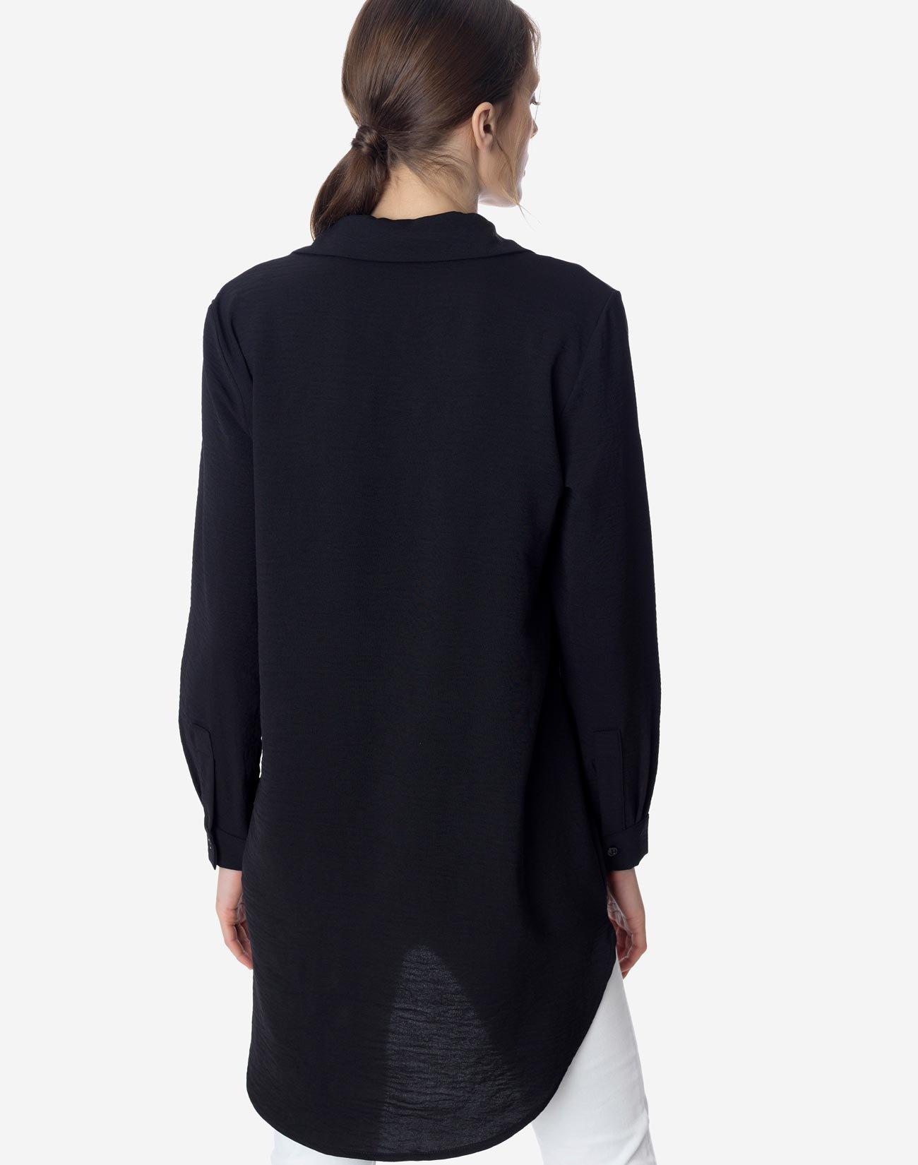 Ασύμμετρο πουκάμισο με τσέπες