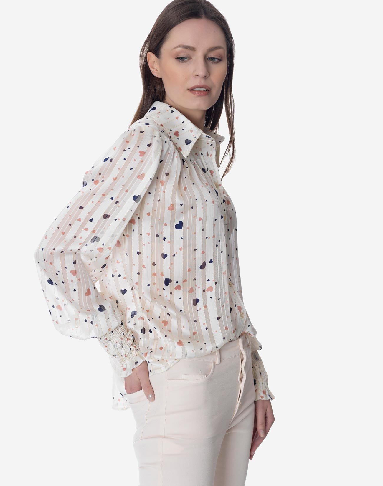 Ημιδιάφανο εμπριμέ πουκάμισο