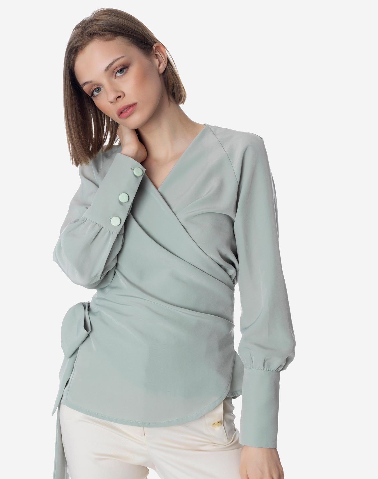 Wrap top with bow