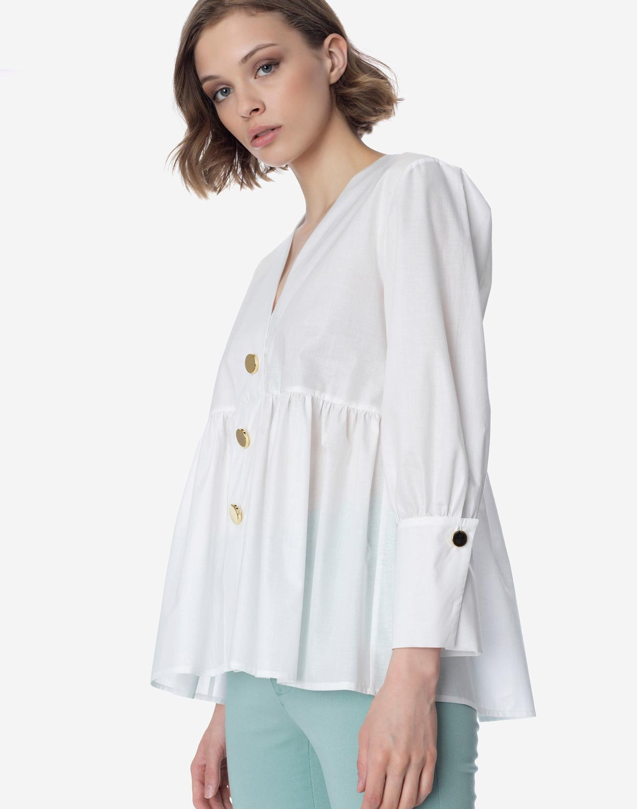 Top with gold buttons