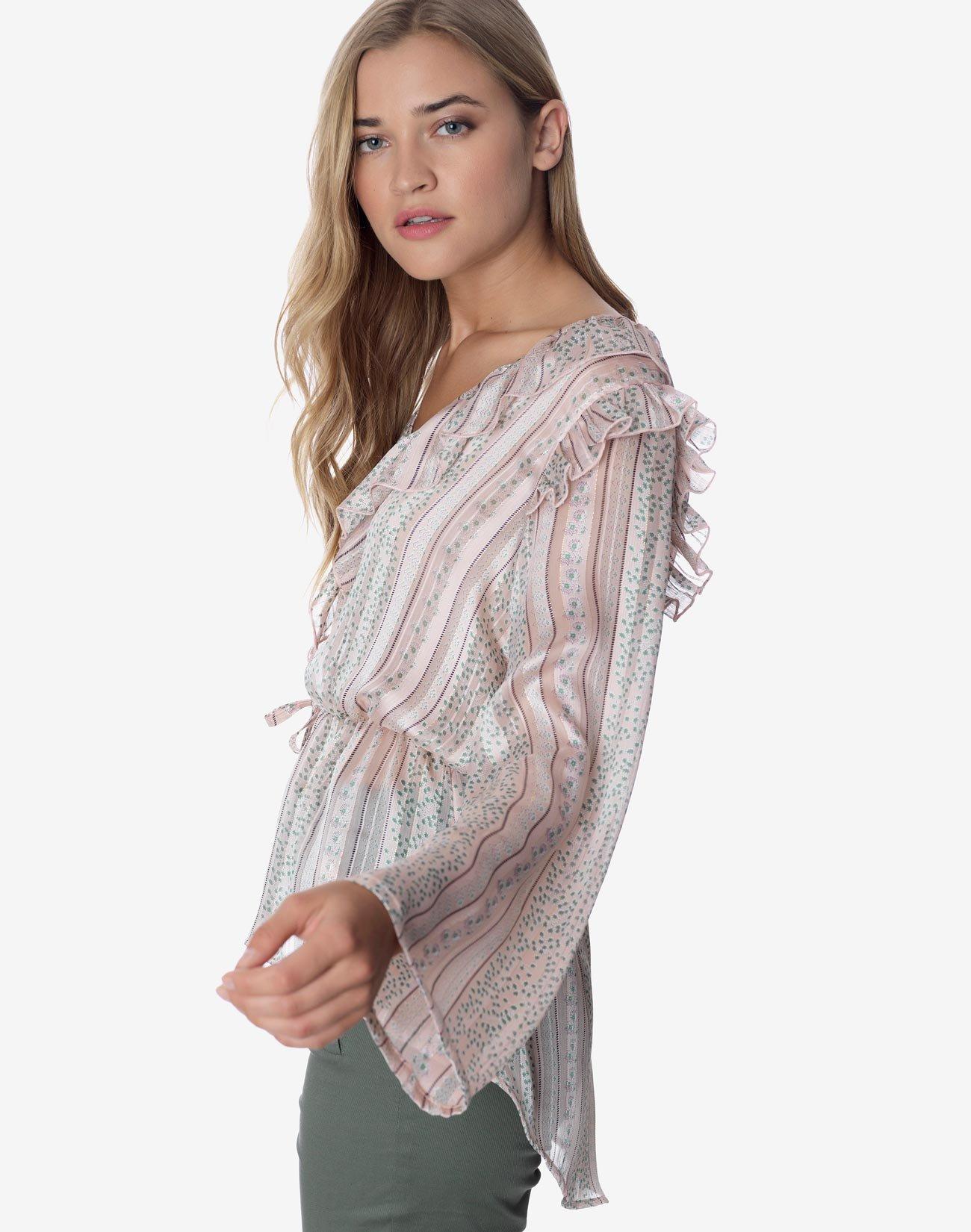 Ασύμμετρη εμπριμέ μπλούζα