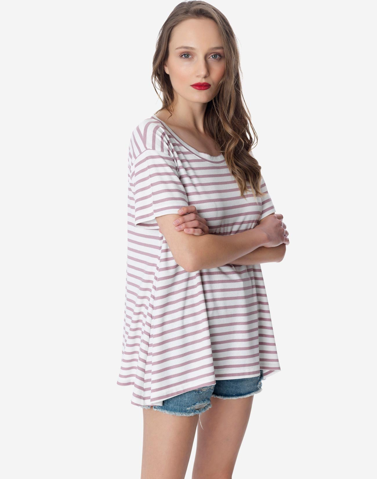 Oversized striped top