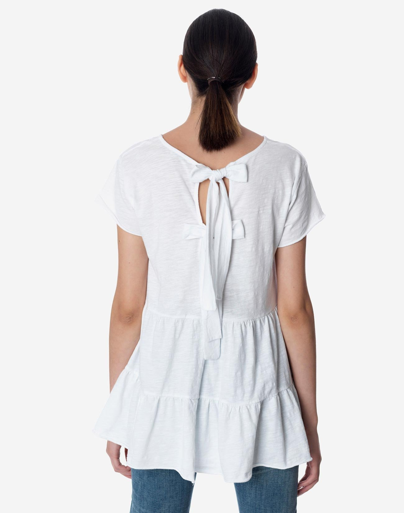 Bow back top