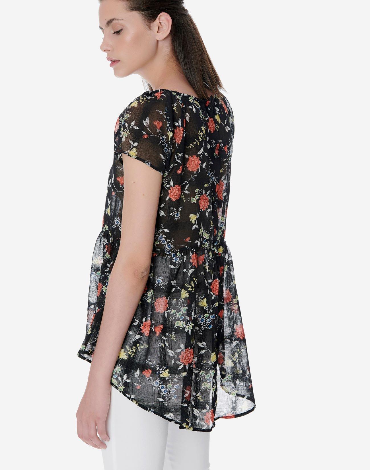 Semi sheer floral top