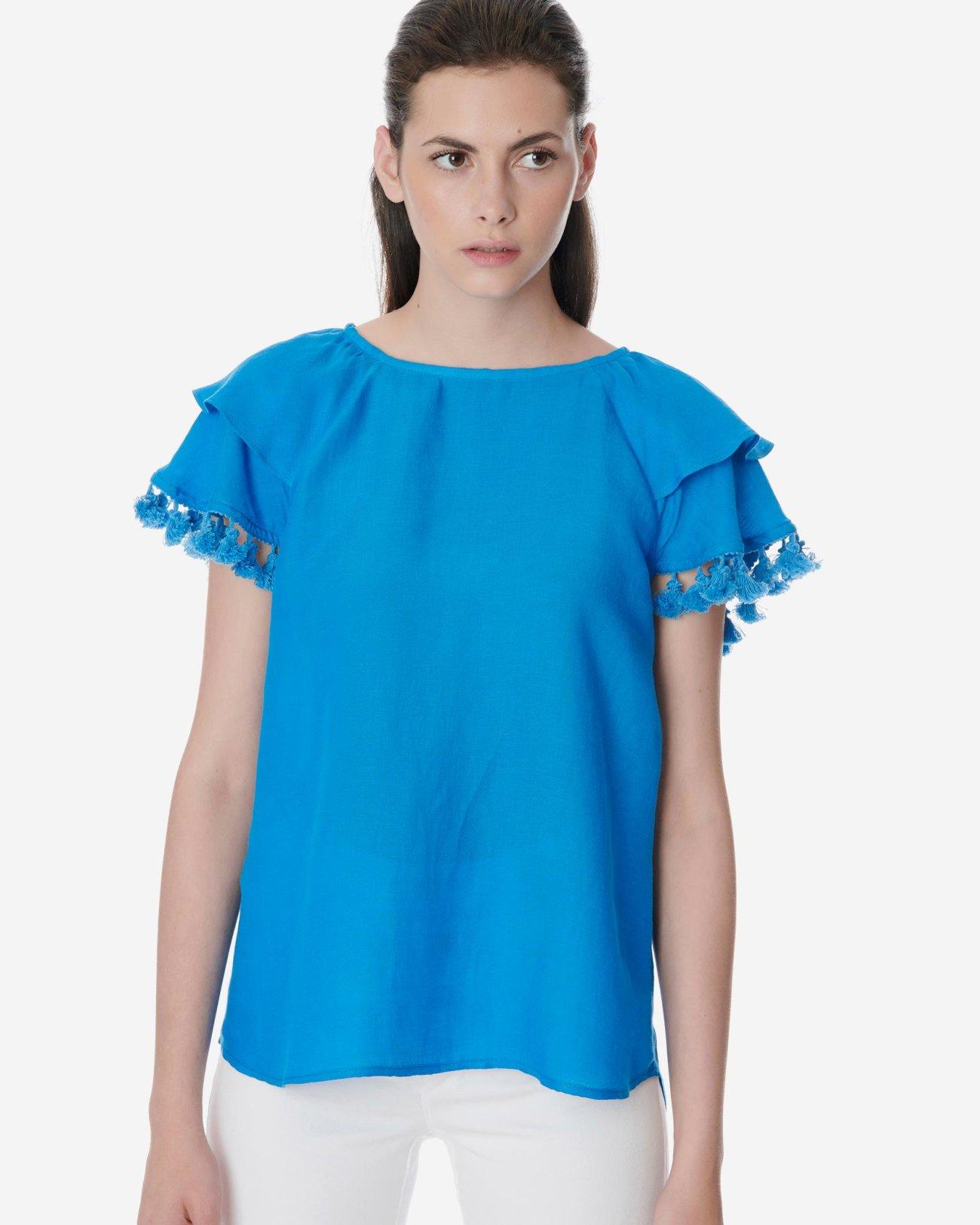 Μπλούζα με φούντες