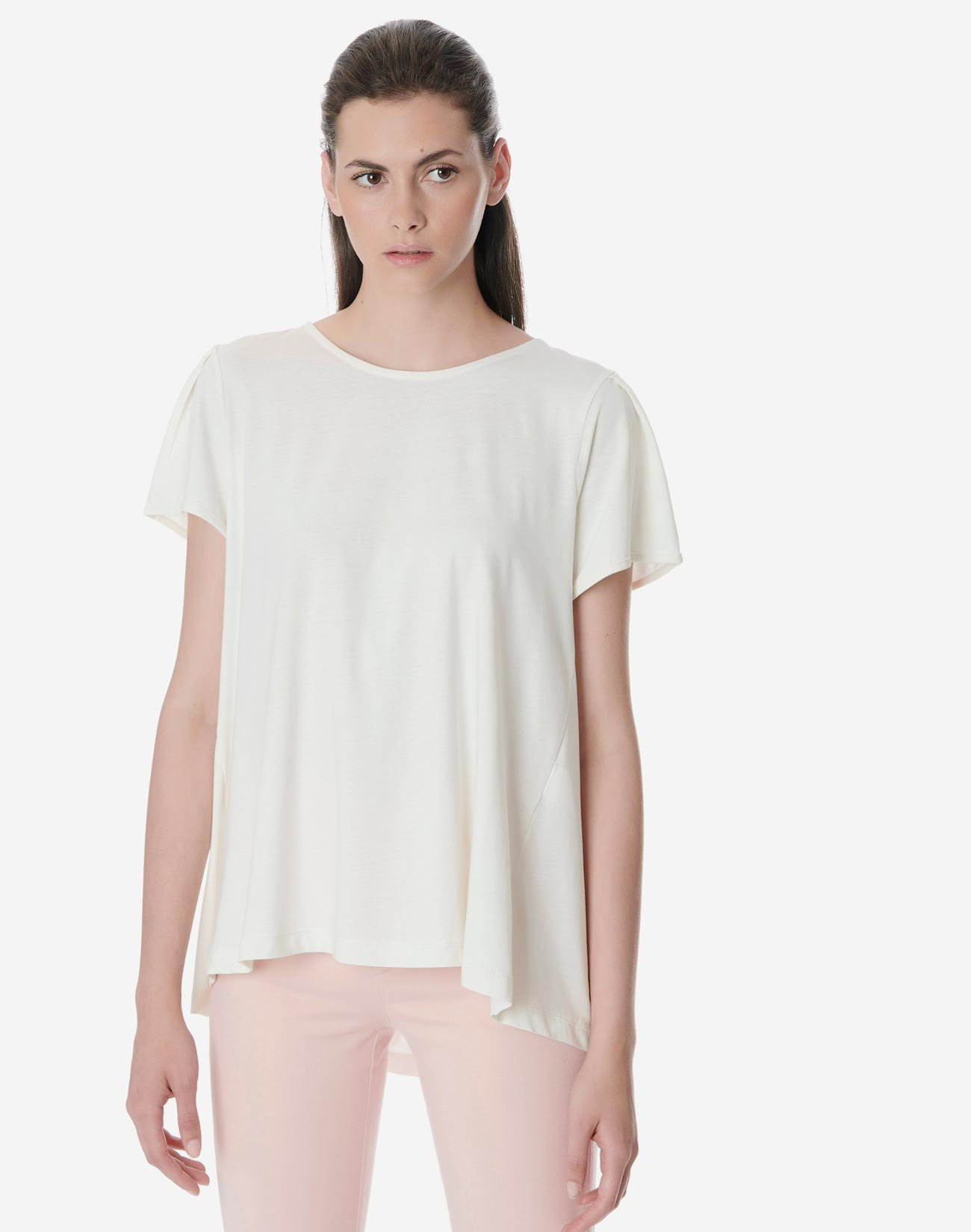 Organic cotton top with tape detail