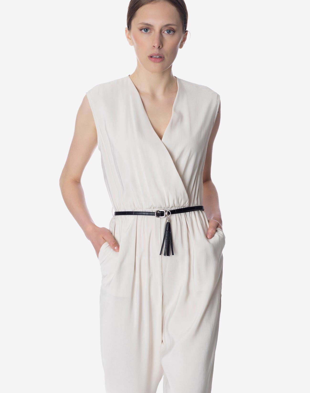 Wrap front jumpsuit