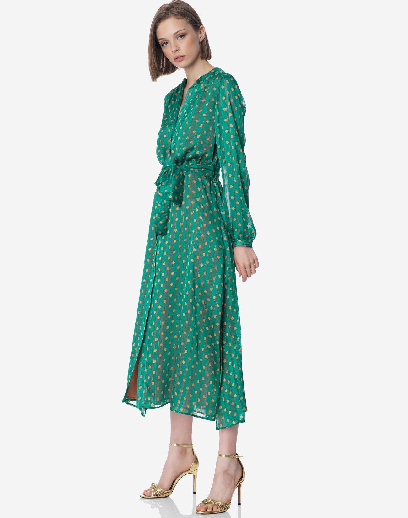 Μίντι πουά φόρεμα