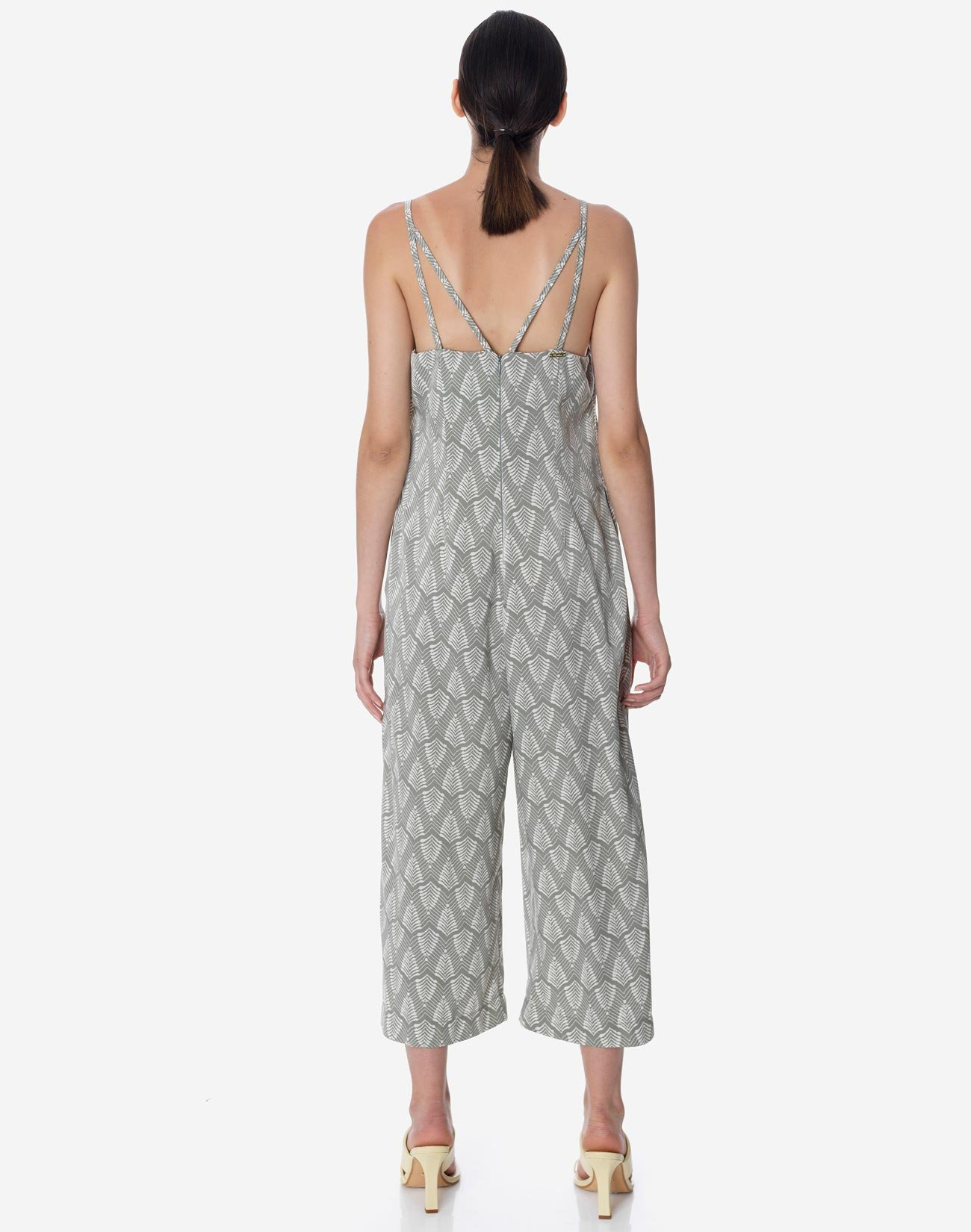 Printed jumpsuit with back detail