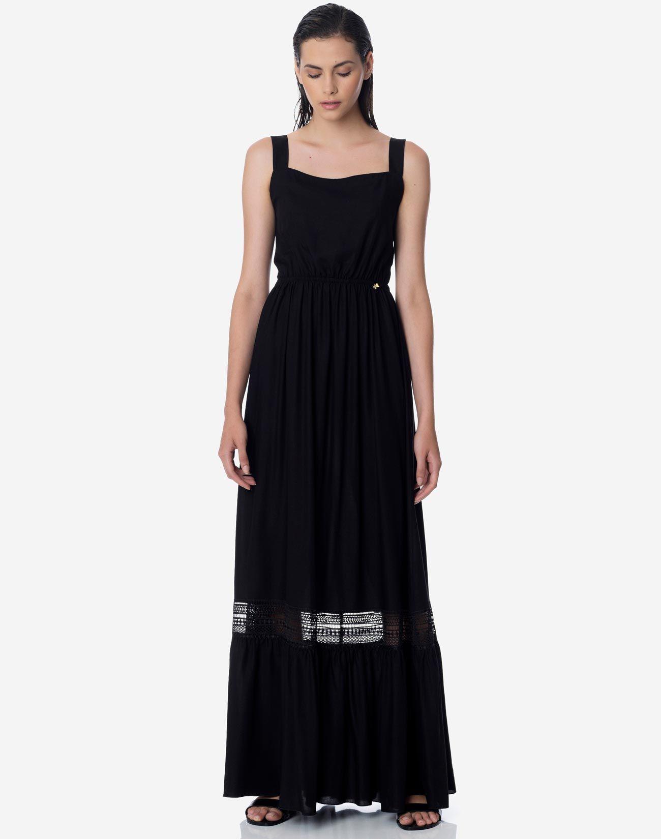 Μάξι φόρεμα με λεπτομέρεια φιόγκο