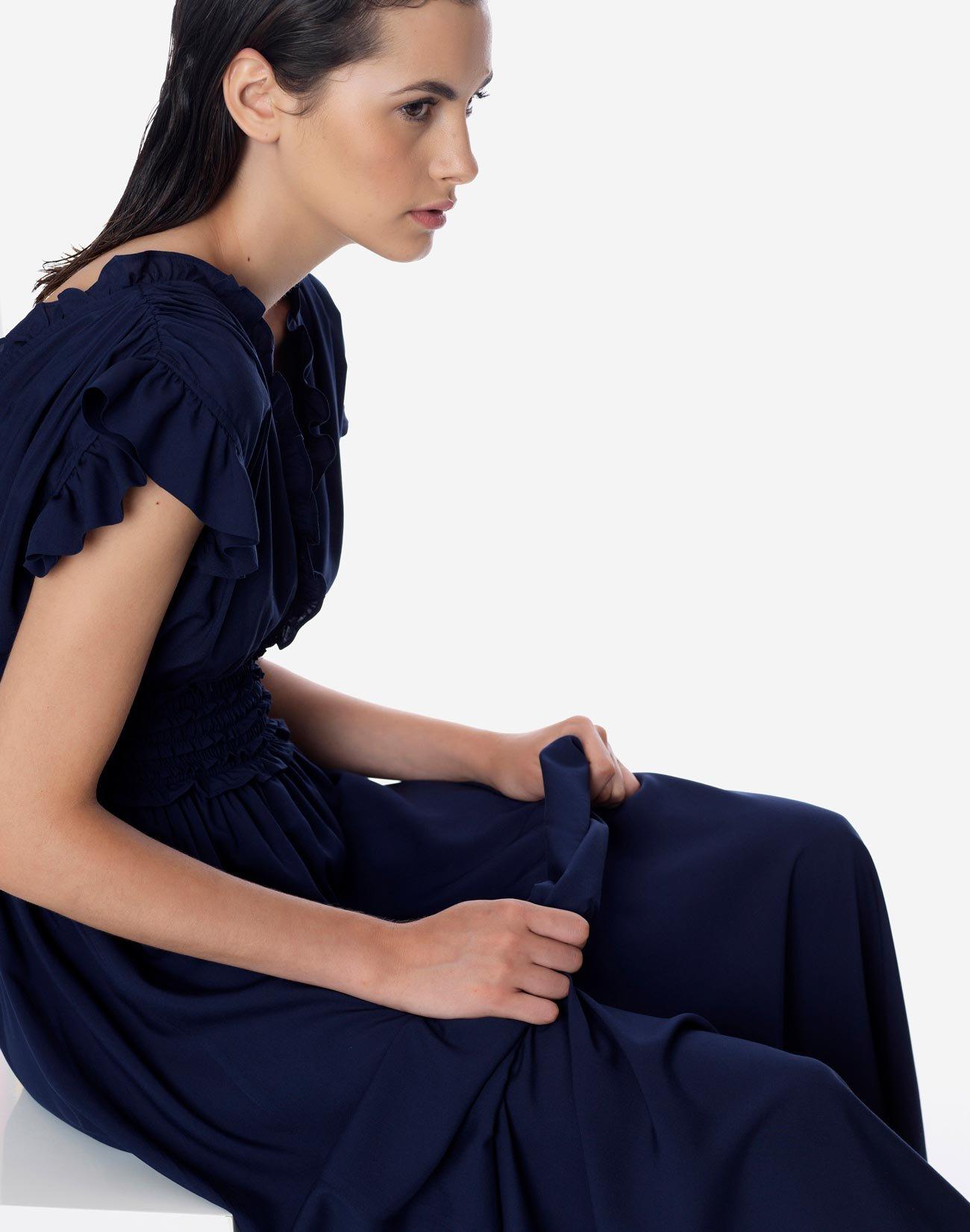 Maxi dress with smocked waist