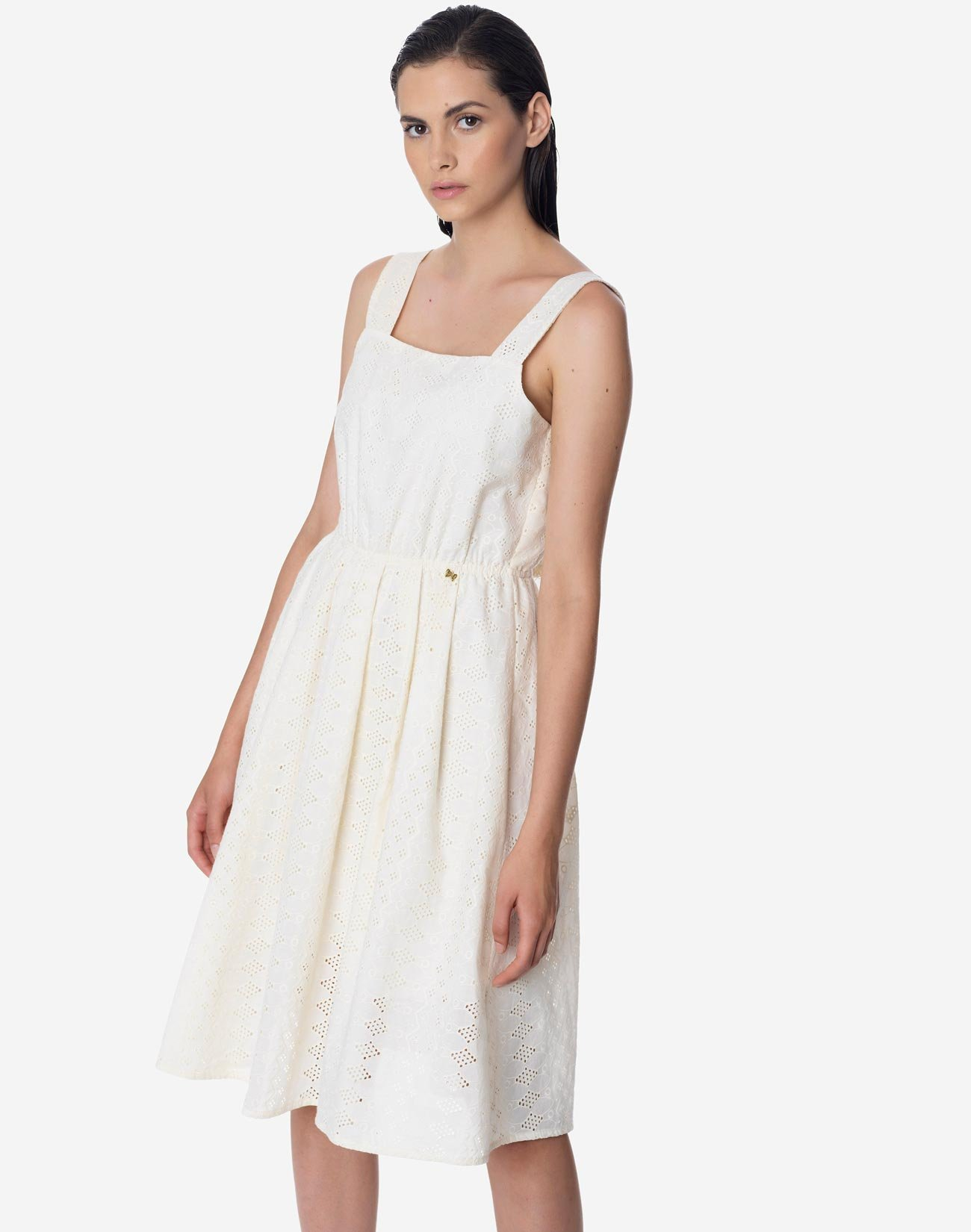 Midi embroidered dress