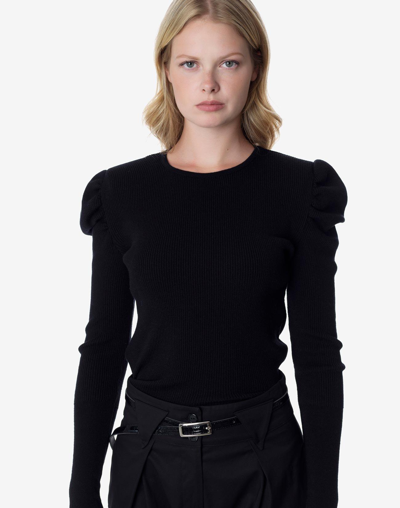 Ριπ πλεκτή μπλούζα
