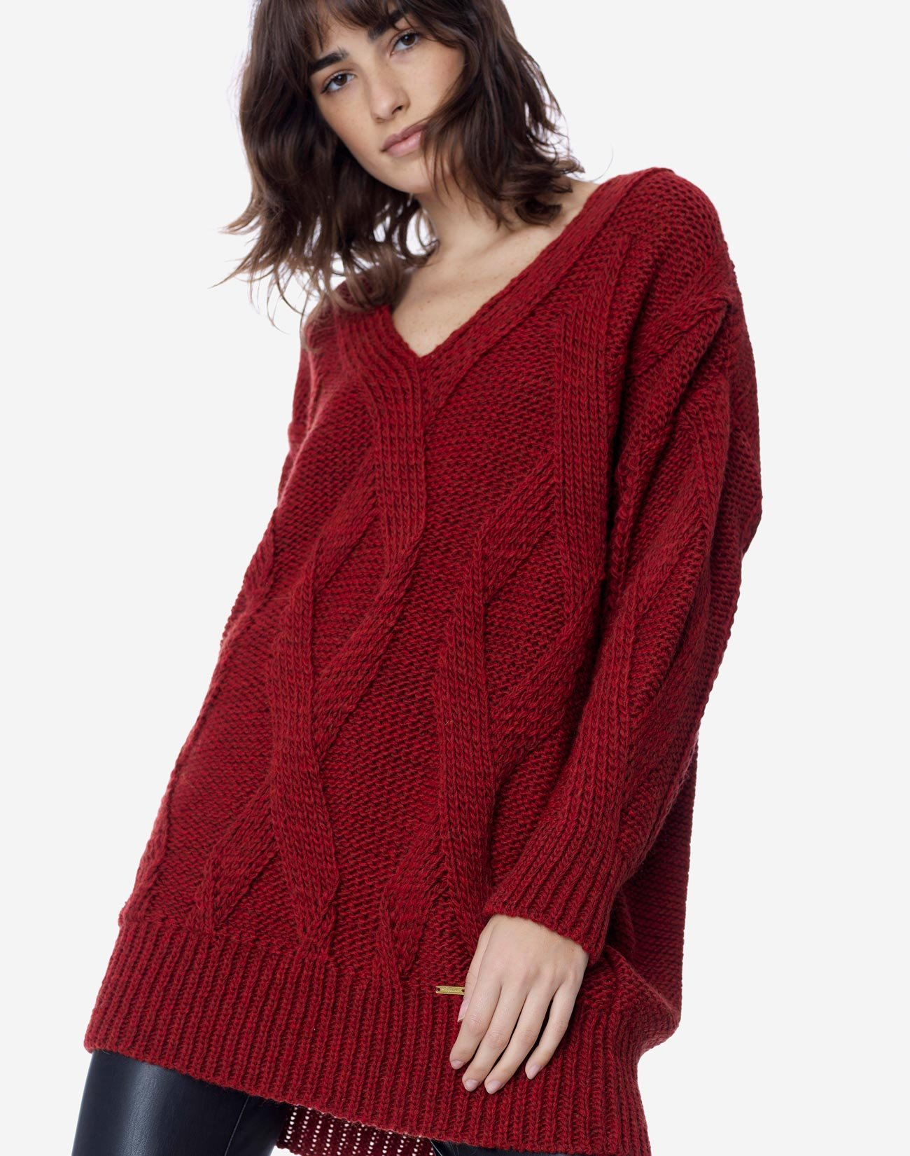 Πλεκτό πουλόβερ oversized