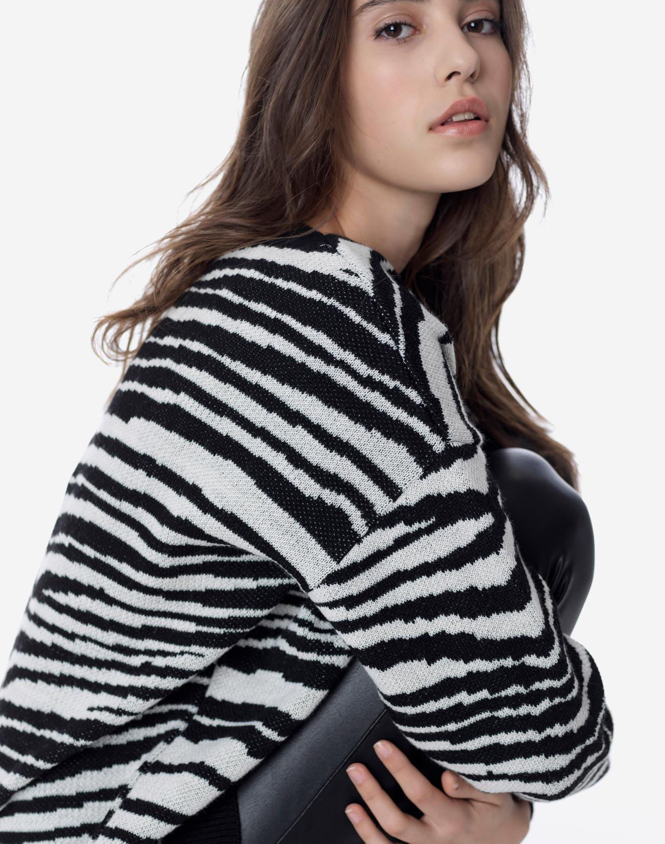 Animal print πουλόβερ oversized