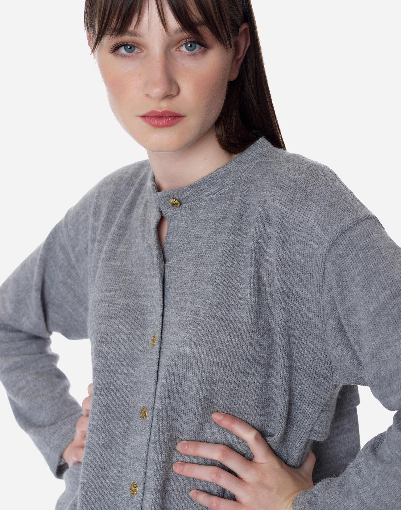 Knit cardigan with buttons
