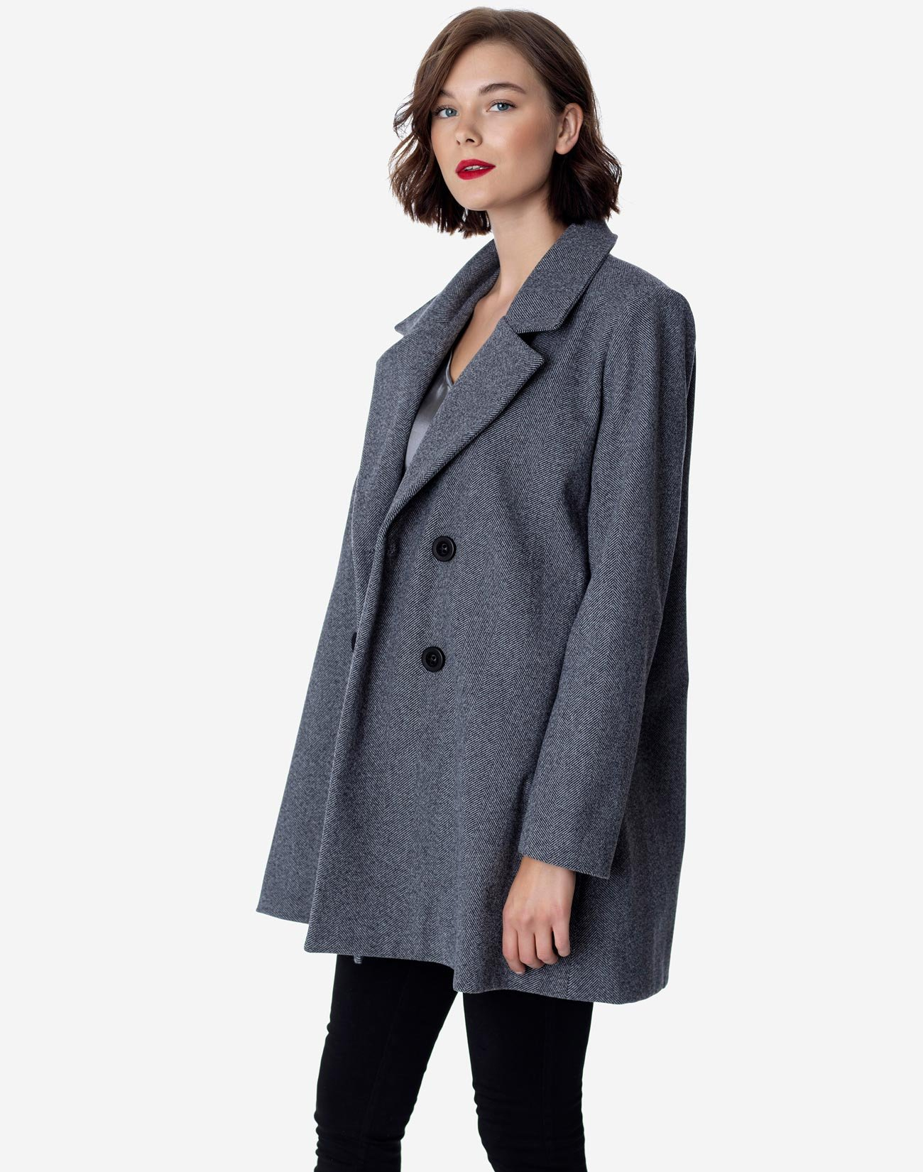 Double-breasted coat