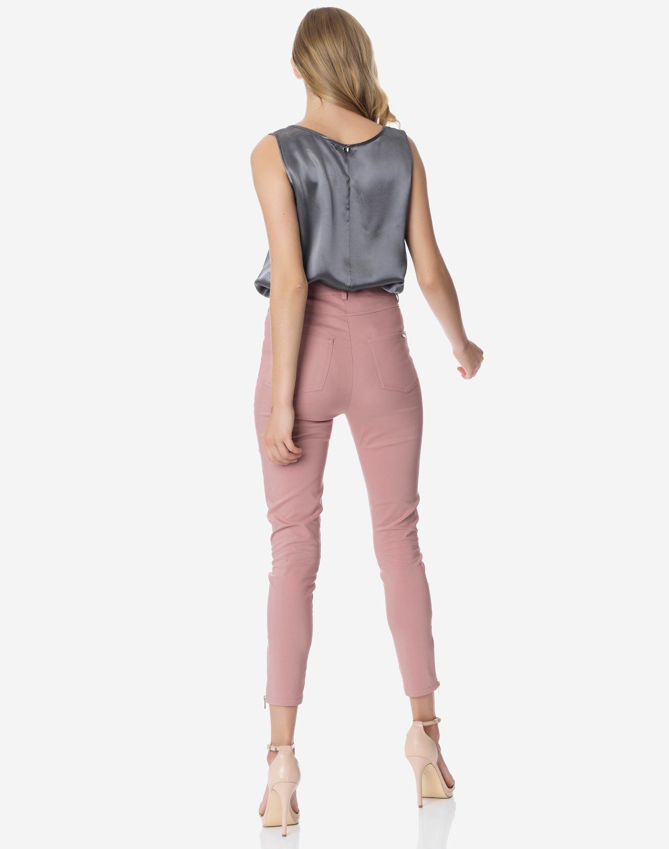 High waist trouser with zip detail