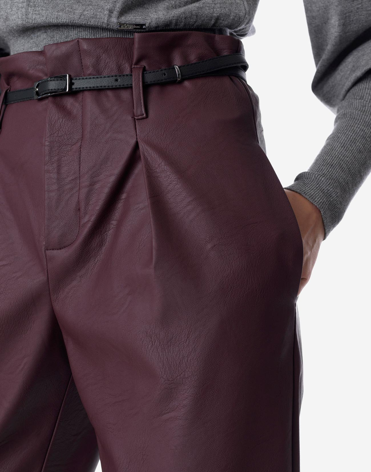 Ψηλόμεσο παντελόνι δερματίνης