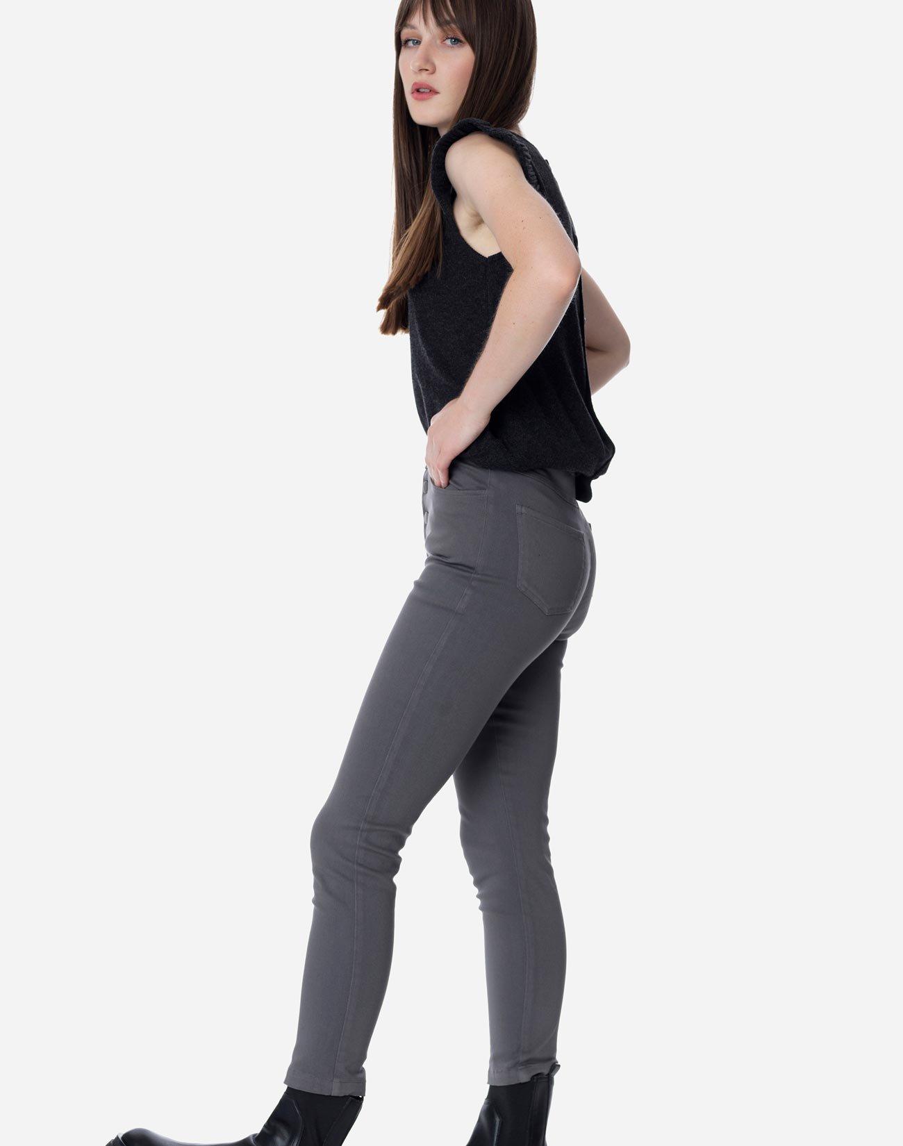 High waist button fly trousers