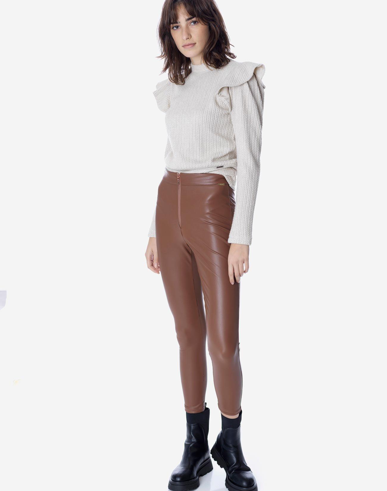 Leggings with zip