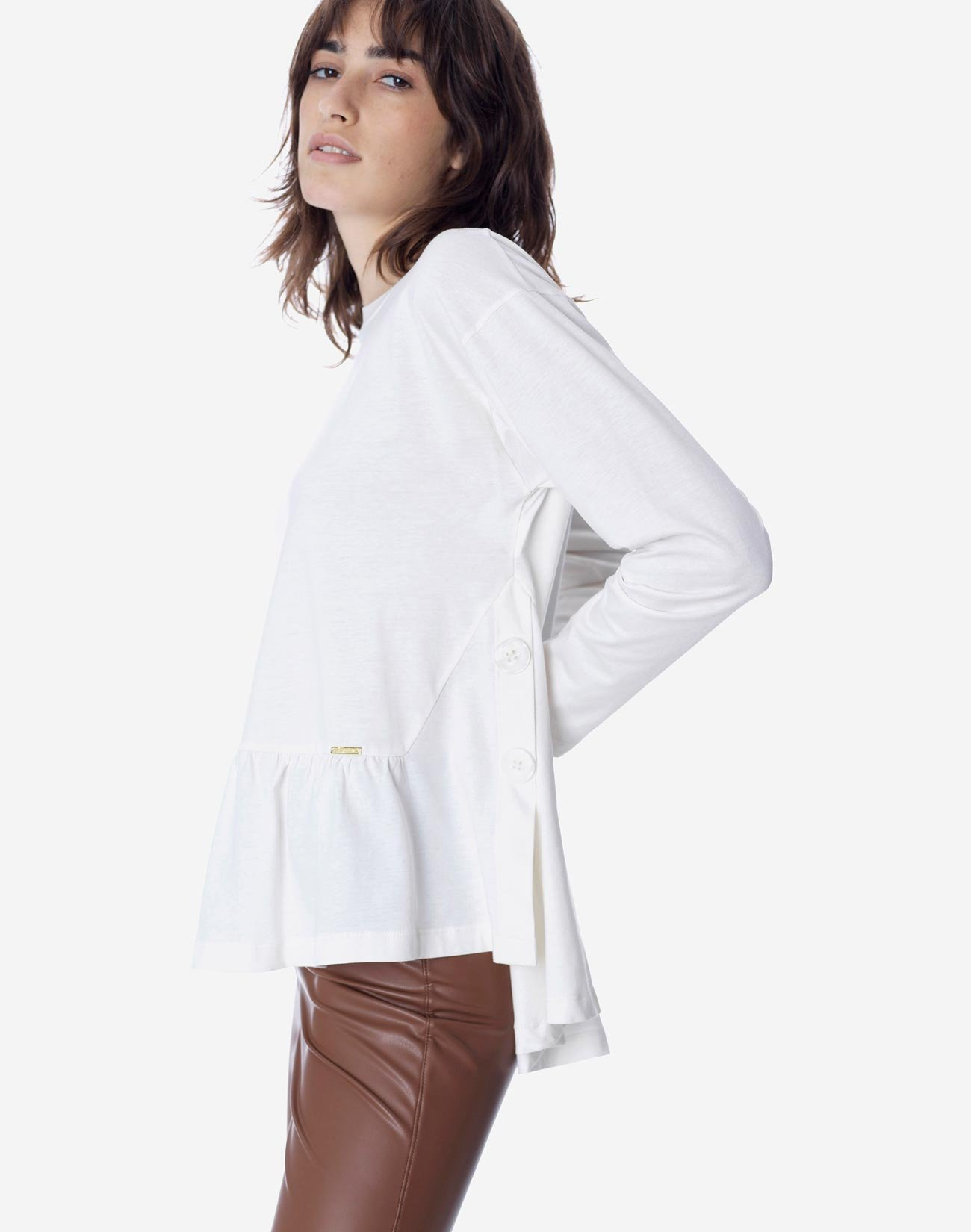 Organic cotton contrasting top