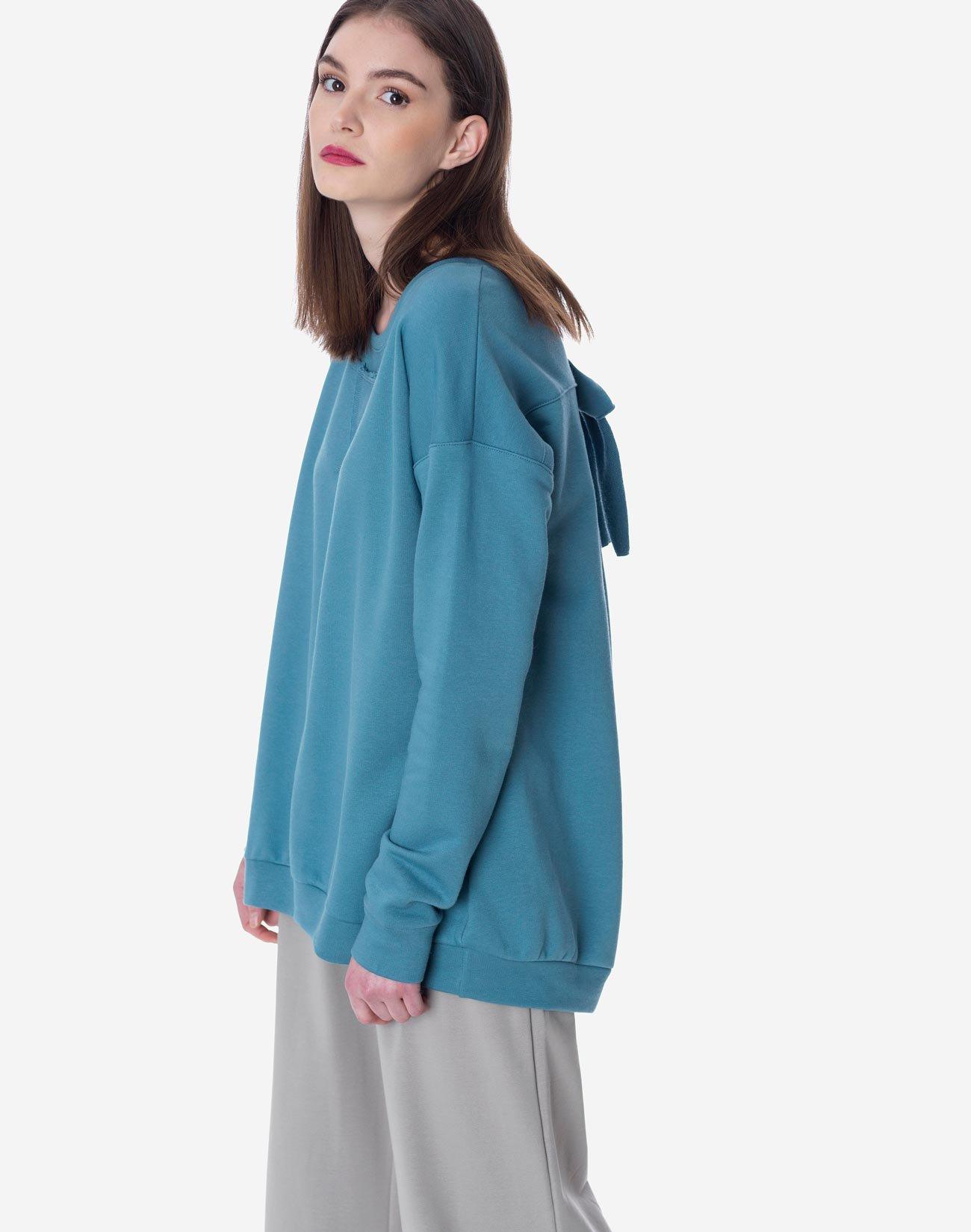 Μπλούζα φούτερ με φιόγκο
