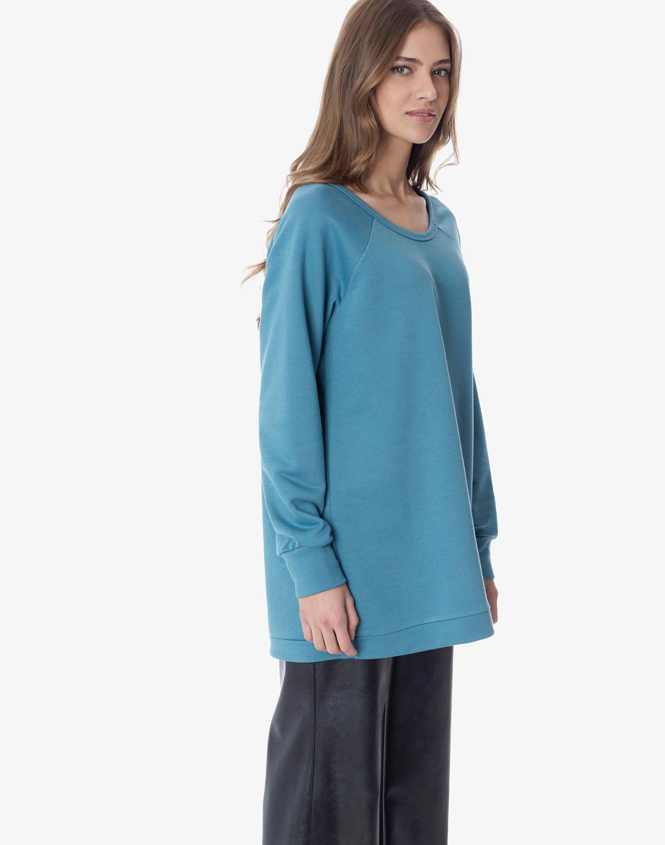 Oversized φούτερ με φιόγκο