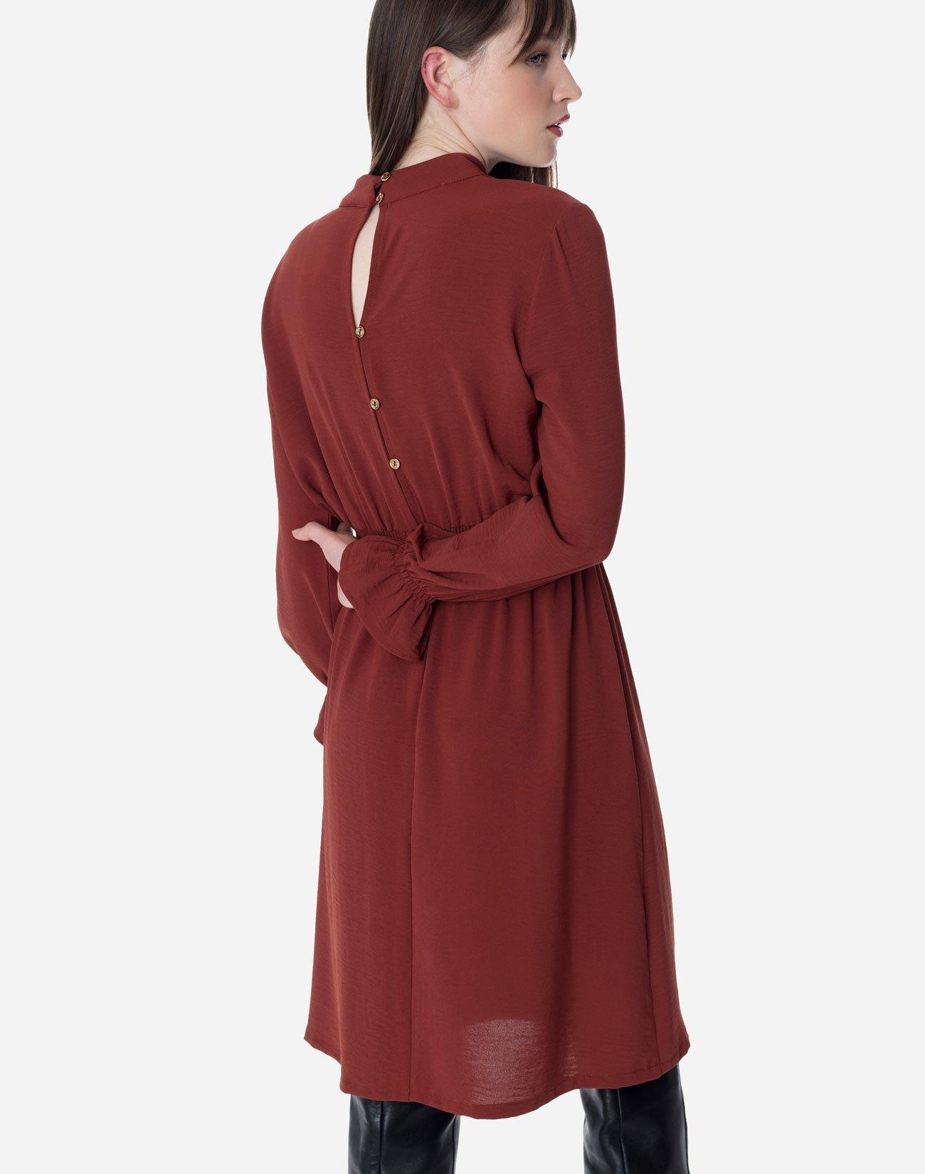Midi dress with high neck