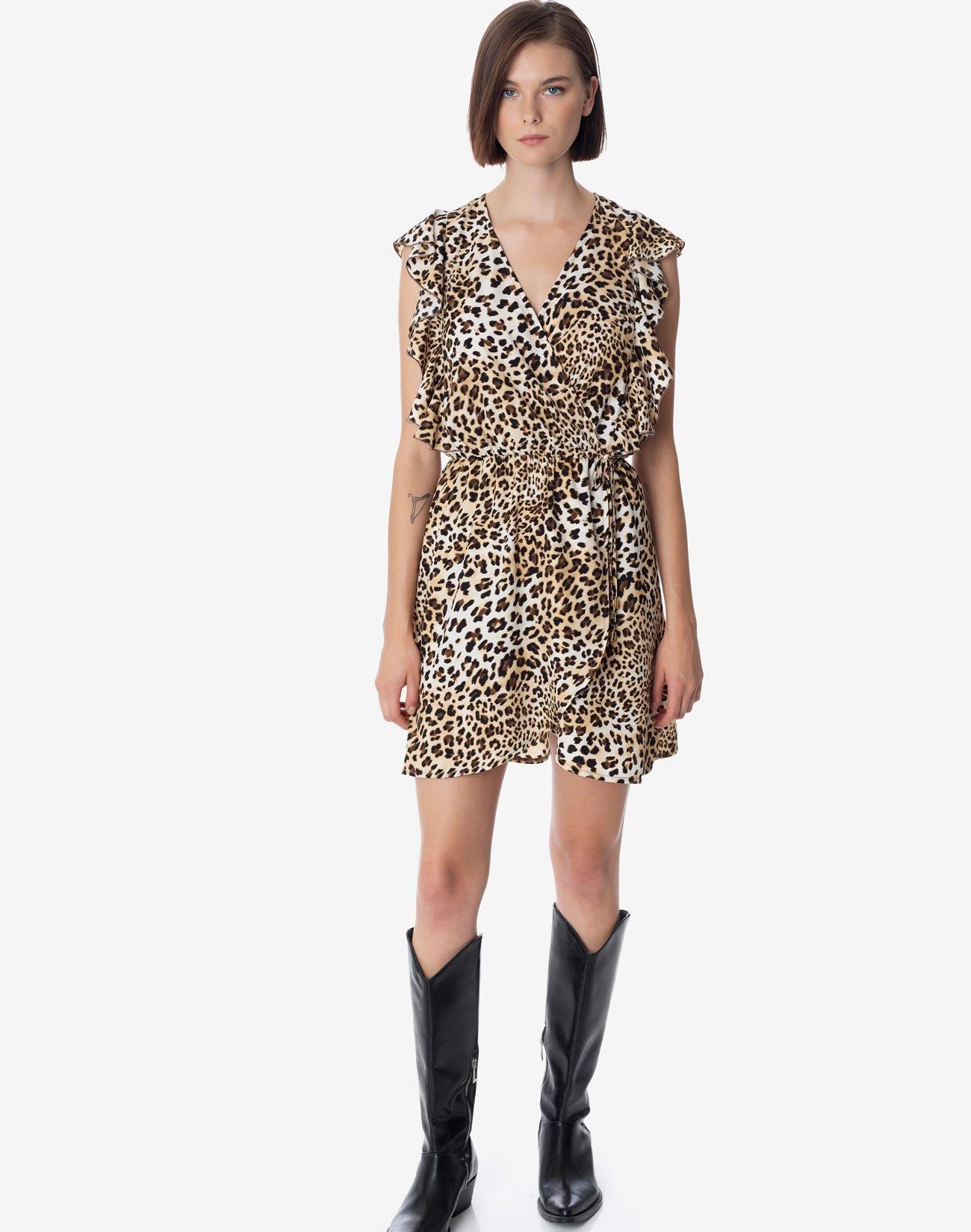 Φόρεμα μίνι animal print