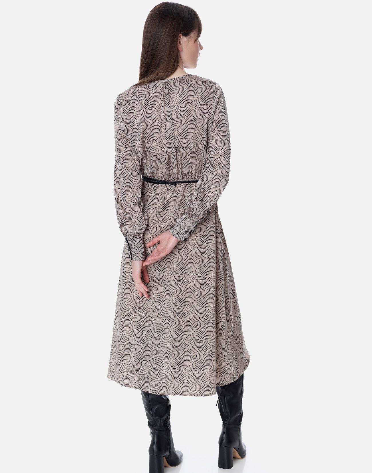 Μίντι εμπρμέ φόρεμα με κουμπιά