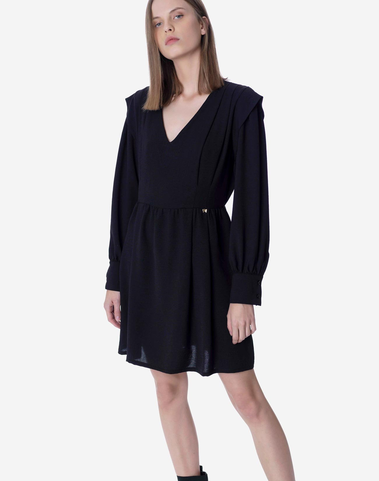 Mini dress with shoulder pads