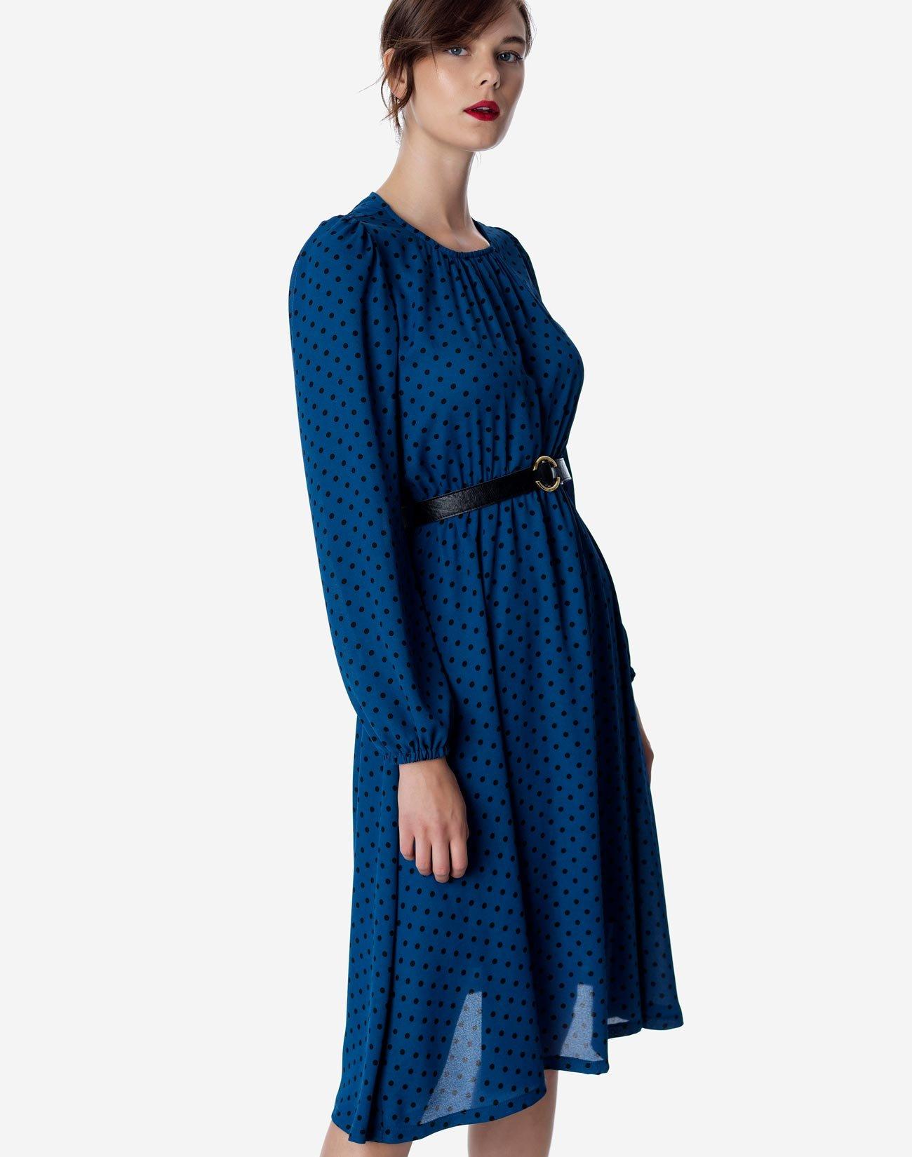 Πουά μίντι φόρεμα
