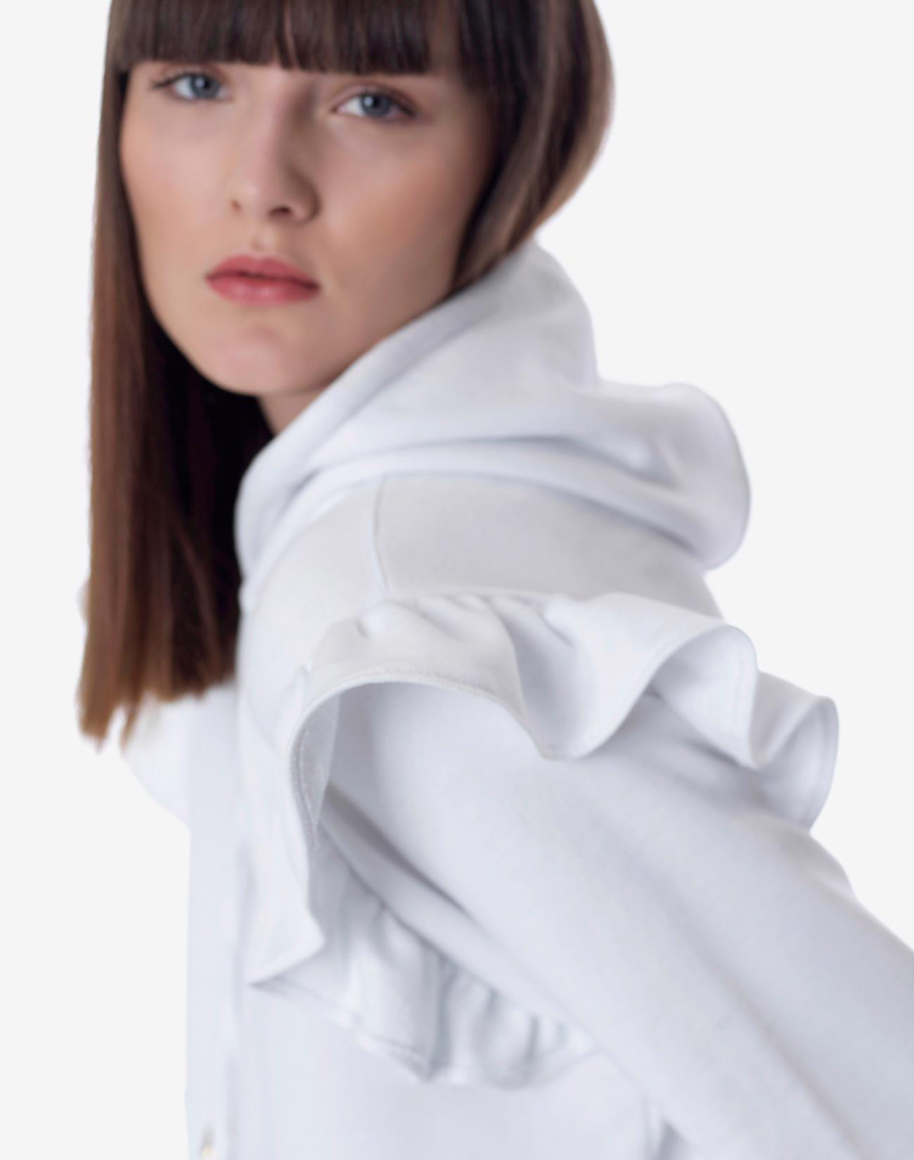 Ruffled sweatshirt