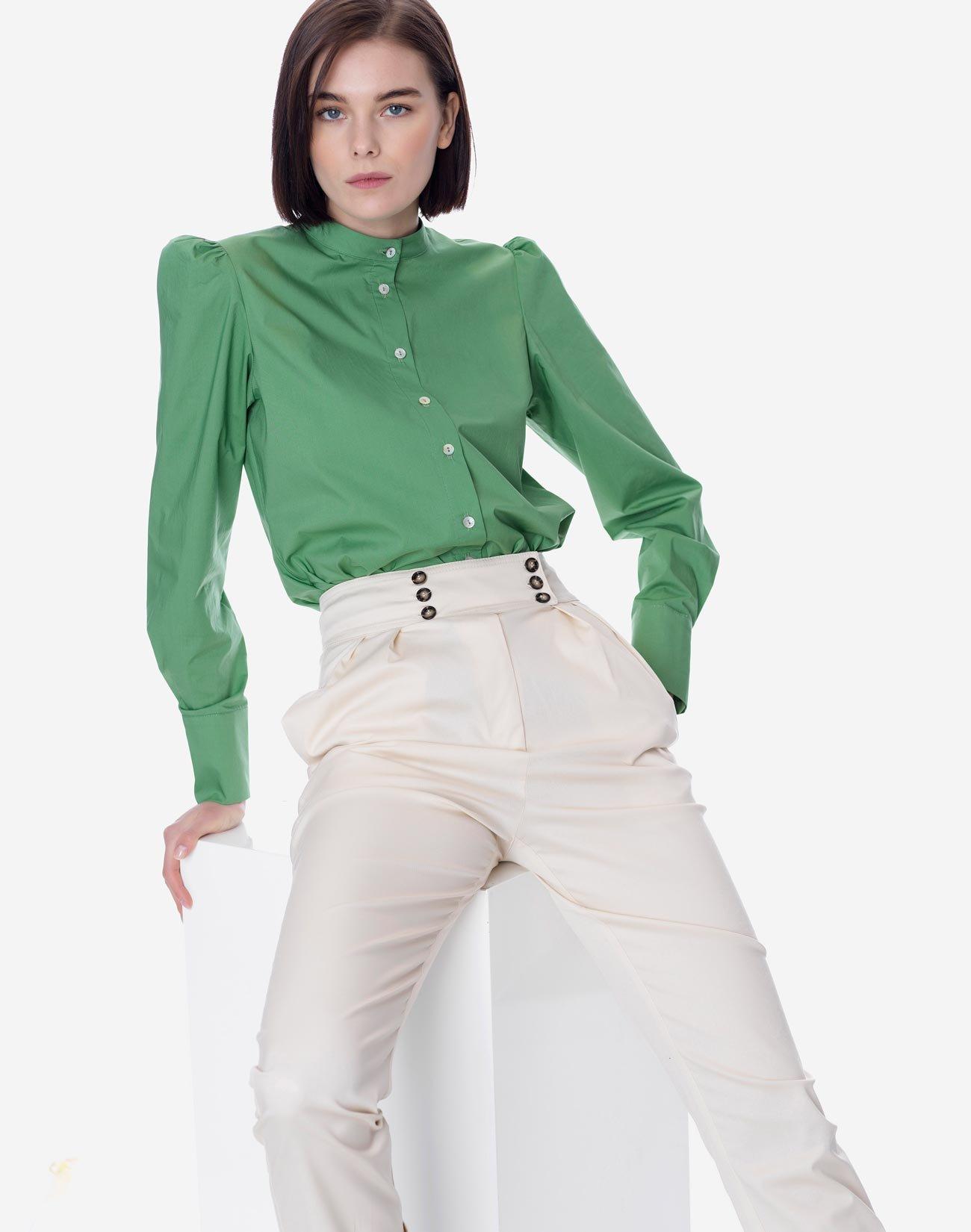 Ψηλόμεσο παντελόνι με πιέτες