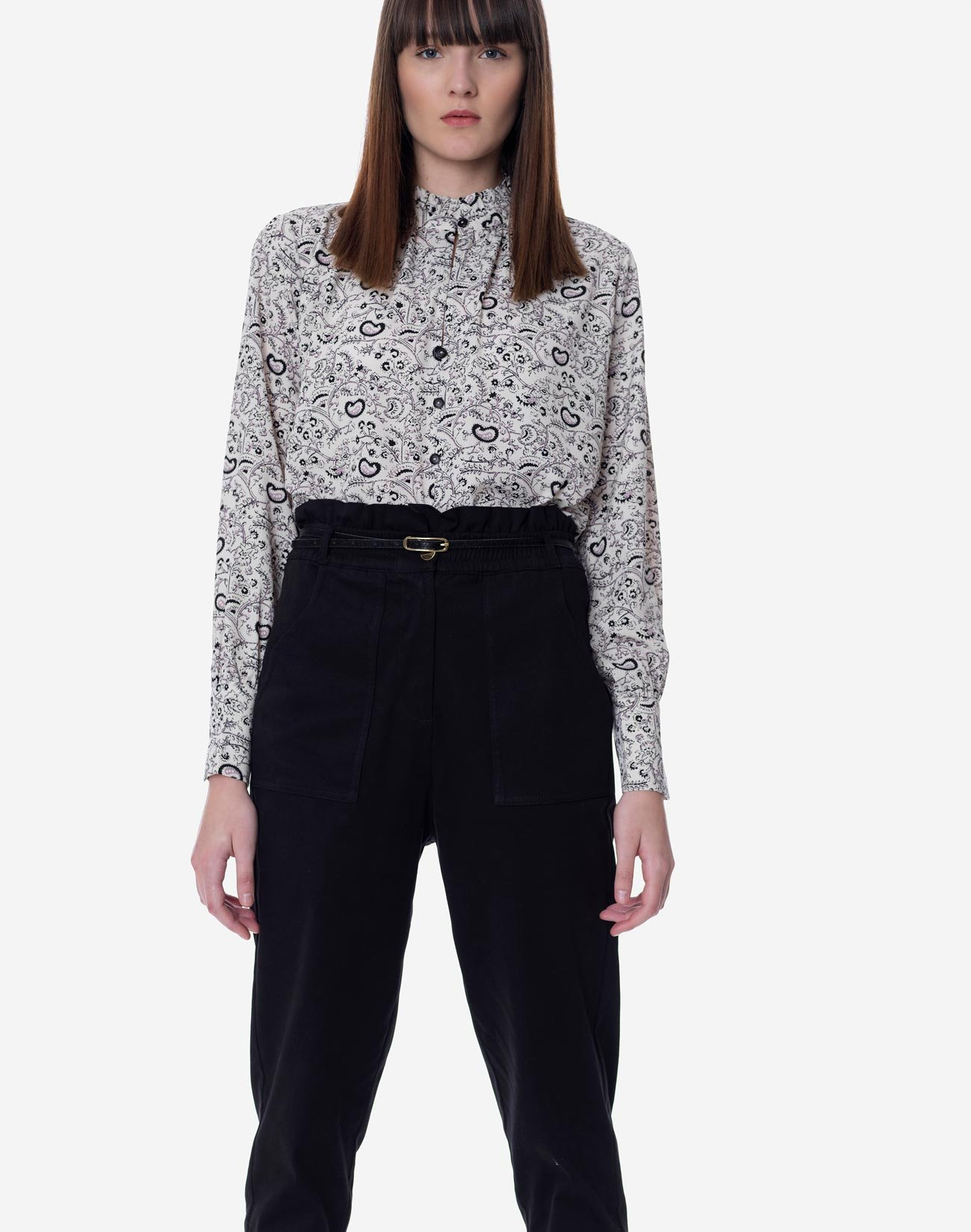 High waist baggy trouser