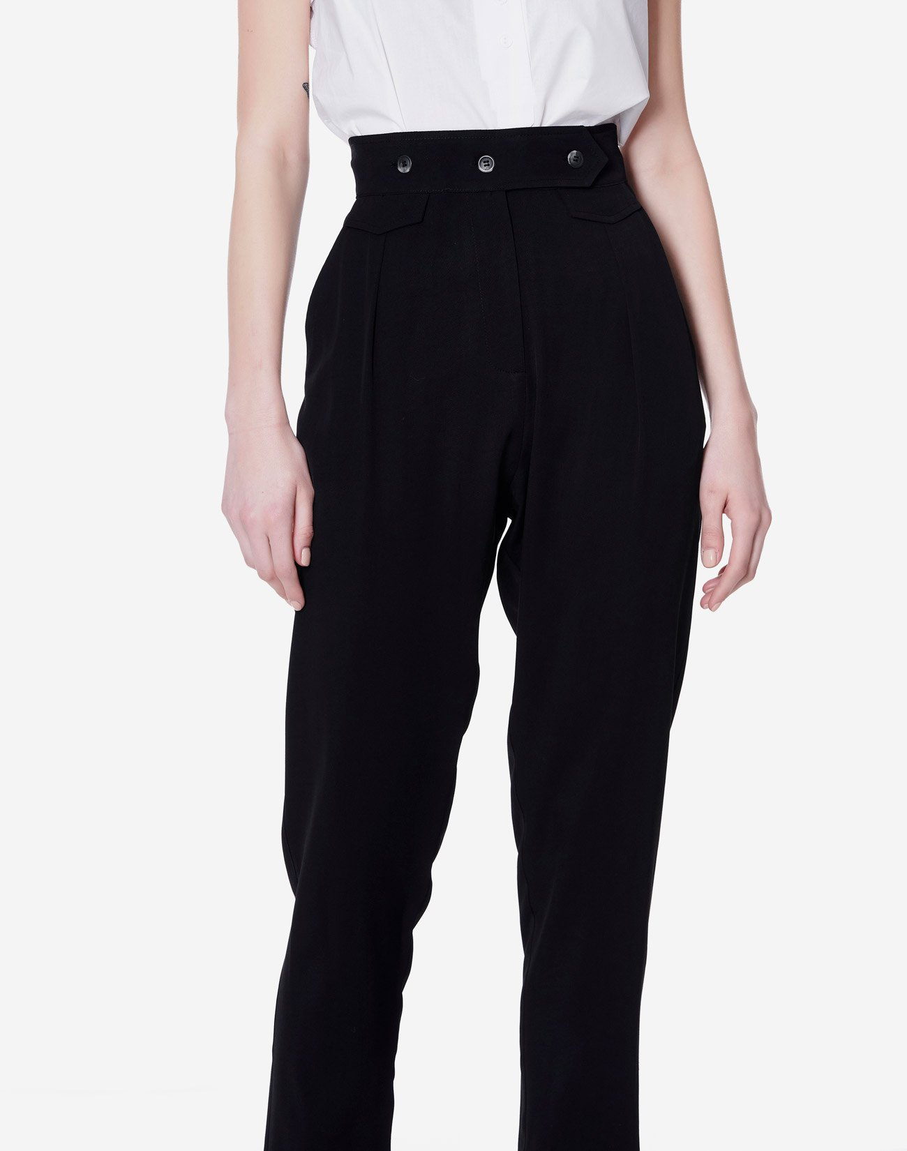 Ψηλόμεσο παντελόνι με κουμπιά