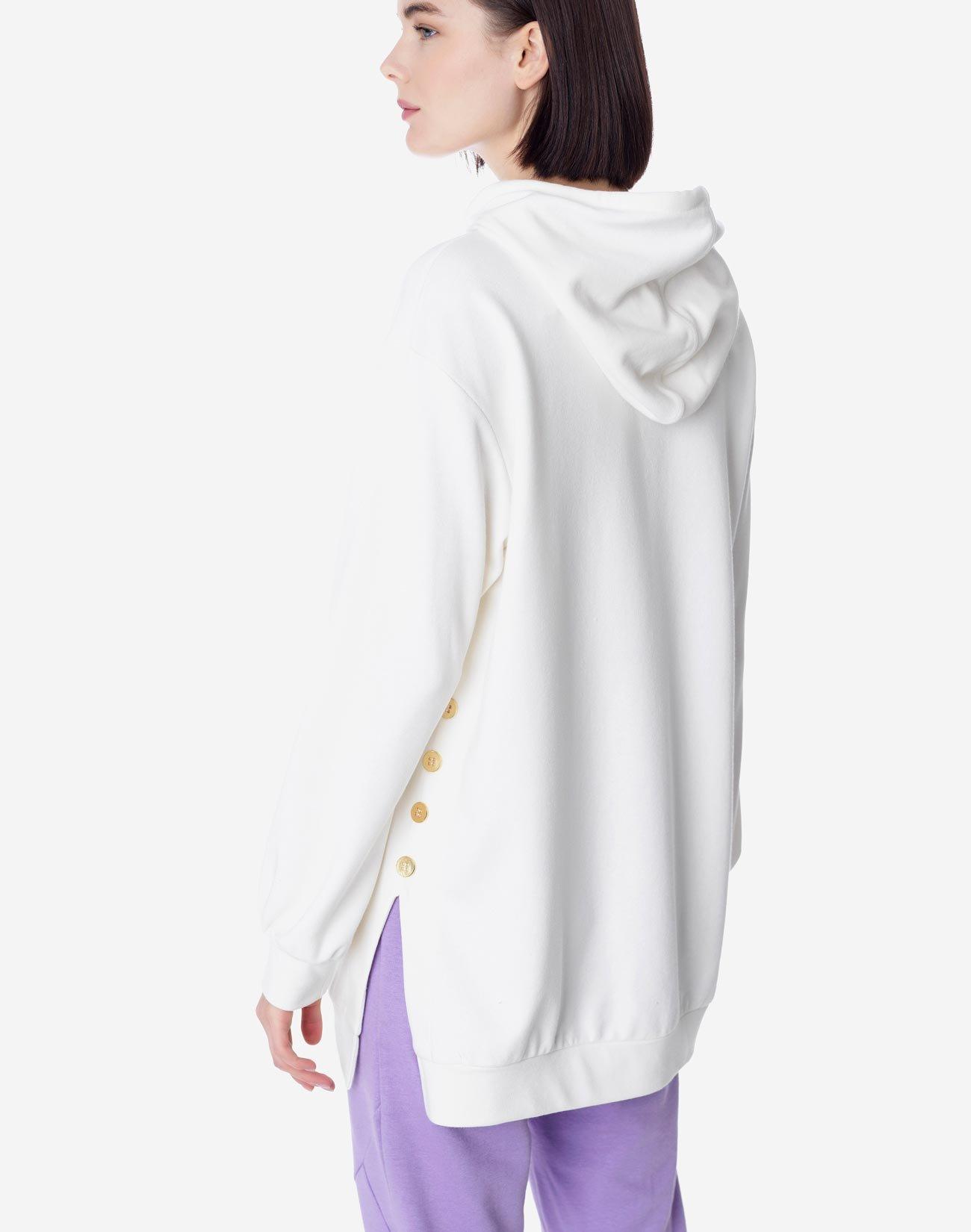 Sweatshirt with button detail