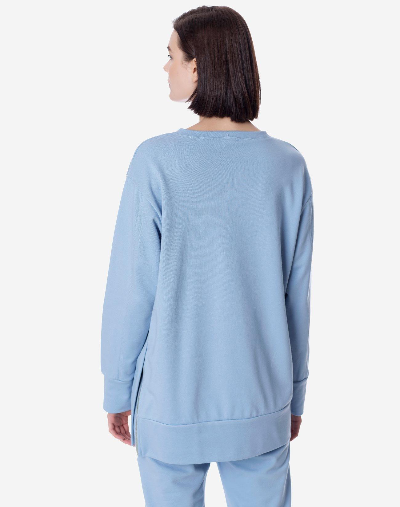 Oversized sweatshirt with zip