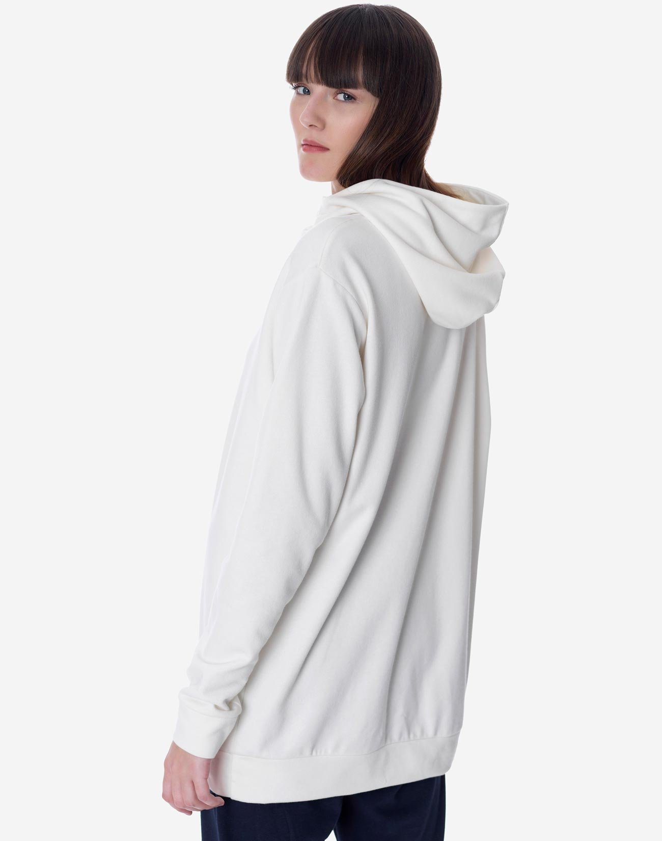 Hoodie with button detail
