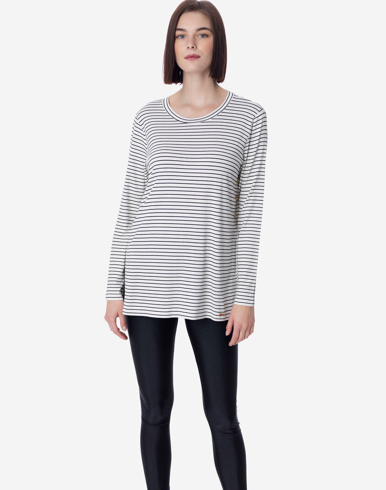 Striped contrasting top